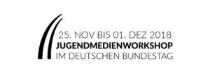 Anmeldung zum Jugendmedienworkshop im Deutschen Bundestag vom 25. Novmeber bis 1. Dezember 2018