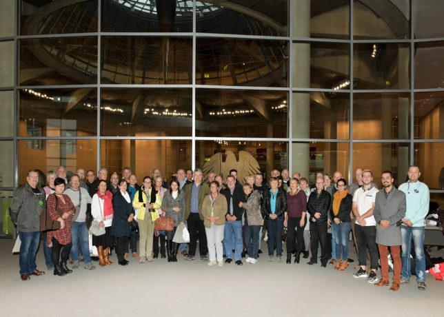 Bild von der Besuchergruppe im Deutschen Bundestag